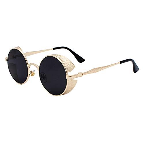 Yying Mujer Gafas de sol Men Punk Vintage Eyewear Red Steampunk Gafas de sol Goggles