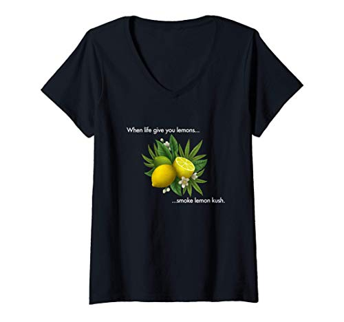 Damen Smoke Lemon Kush T-Shirt mit...