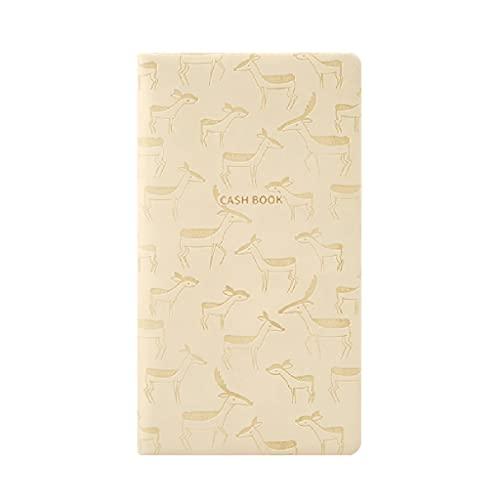 Cuaderno clásico Portátil portátil Contabilidad Creativa Familia finanzas Viajes Bolsillo Multifuncional pequeño Bloc de Notas (96 Hojas) (Color : Beige)