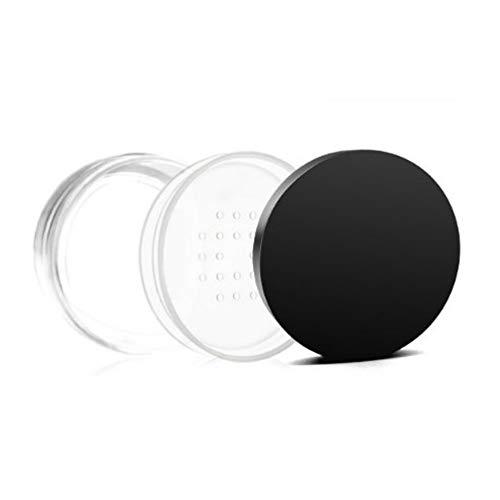 KAERMA 30/50 g Maquillage clair Boîte de rangement avec capuchon noir Organisateurs de voyage Maquillage cosmétique Récipient en plastique Jars Bouteille vide ronde Accessoires de mode ( Size : 50g )