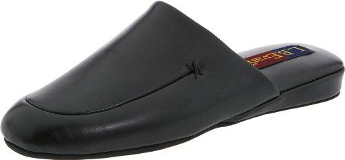 L.B. Evans Men's Duke Scuff Black Leather Clog/Mule 11 M