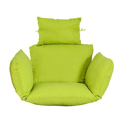 KAIENEOJJ Cojín para silla colgante de huevo, cojín de mimbre de ratán para colgar en la silla, antideslizante, suave, decoración interior (sin silla)