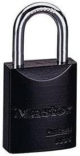 Master Lock 6835NKA-BLK Pro Series Solid Aluminum Black Padlock, Keyed Alike (KA)