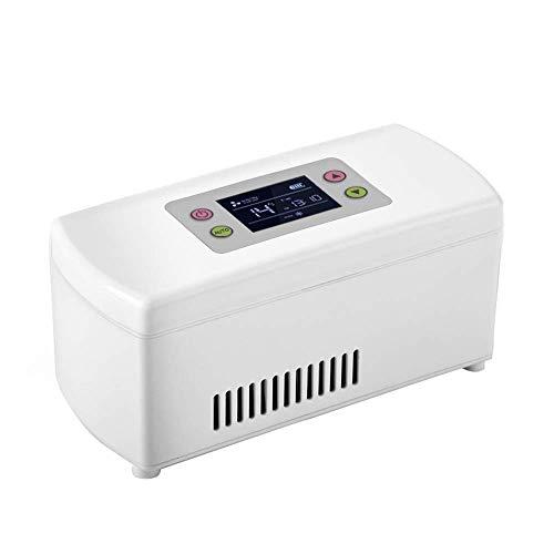 LNDDP Autokühlschrank, tragbarer Insulinkühler Halbleiter Mini-Reisekühlschrank/Medikamentenkühlbox, (2-8 ° C Pharmazeutischer Kühlschrank) Für Reisen, Diabetes-Patienten