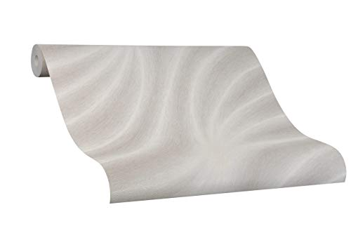 Tapete Beige Welle - Geschwungen, Linien - Colani Evolution - für Wohnzimmer, Schlafzimmer oder Küche - Made in Germany - 10,05m X 0,70m - Premium Vliestapete - 56310