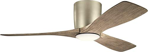 Kichler 300032NI Volos, 48'' Ceiling Fan with LED Lights & Wall Control, Brushed Nickel
