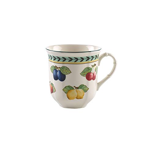 Villeroy & Boch French Garden Fleurence Jumbo Becher, 480 ml, Premium Porzellan, Weiß/Bunt
