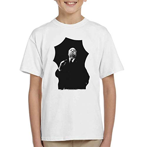 Alfred Hitchcock Umbrella Portrait Kid's T-shirt
