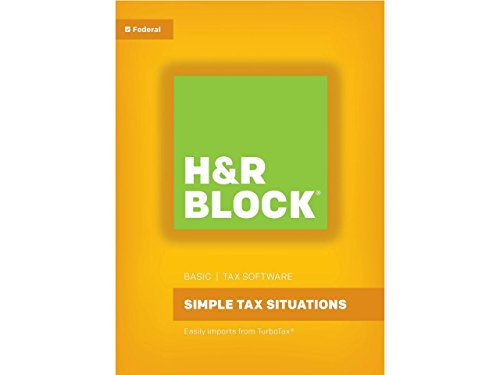 HR Block(R) Basic 2017 Tax Software, For PC/Mac, Traditional Disc