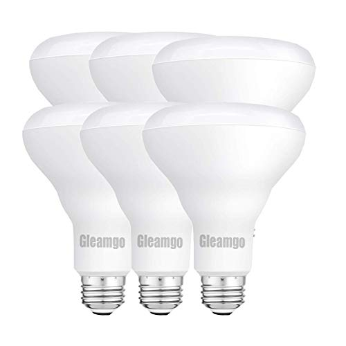 Gleamgo UL&ES Listed 6 Pack Led Light Bulb Br30 Dimmable 60W Equivalent 9W Soft White 2700K E26 Base 680 Lumens for Home