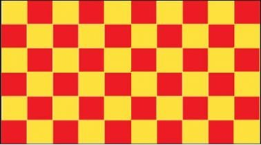 Red & Yellow Checkered flagge