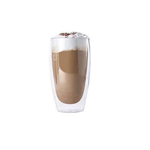 ana® - 6er Set doppelwandige Latte-Macchiato-Gläser XL 450ml, Thermoglas, spülmaschinengeeignet (Ø 8,9 x 15 cm)