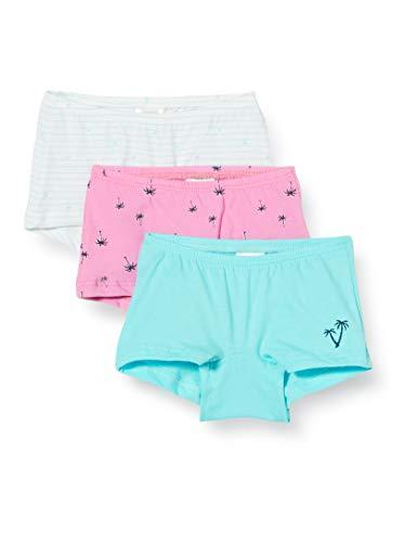 Schiesser Mädchen Multipack Cat Zoe 3pack Shorts Unterhose, Mehrfarbig (Sortiert 1 901), (Herstellergröße: 128) (3er Pack)