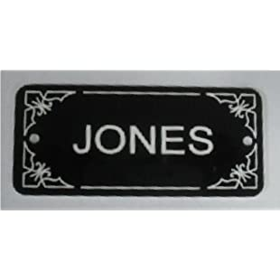 BLACK DOOR NAMEPLATE SIGN ENGRAVED PERSONALISED LPD440 90mm X 40mm FREE DELIVERY