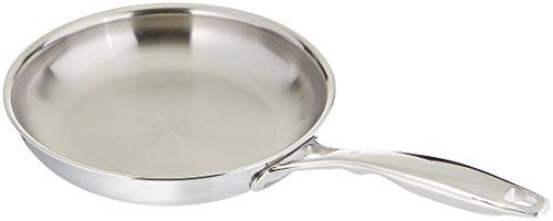"Swiss Diamond Premium Clad Fry Pan - 9.5"", Silver"