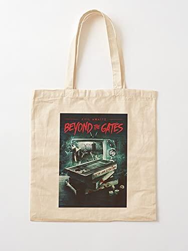 Horror Slasher Junkies Movies Cover VHS Gate The | Einkaufstaschen aus Leinen mit Griffen, Einkaufstaschen aus robuster Baumwolle