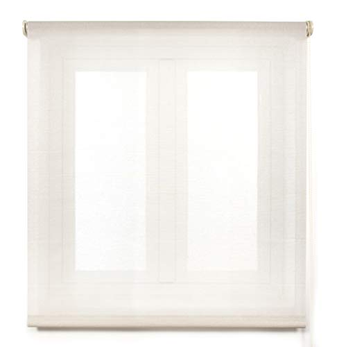 Blindecor Belmont, Estor enrollable Tejido translúcido, color Beig, 130x180 cm (ancho x alto)