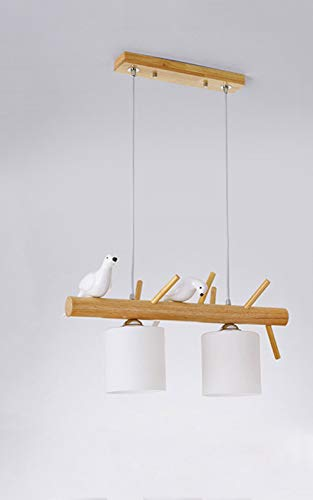 Moderna lámpara minimalista de madera maciza de restaurante nórdico Birdie, protección del medio ambiente E27, luz cálida