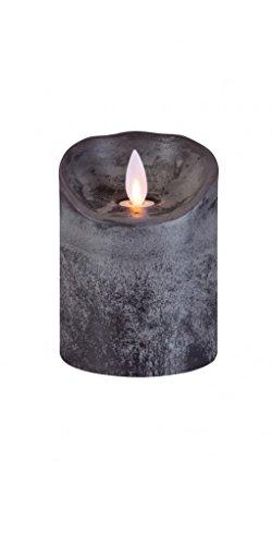 sompex Flame Echtwachs LED Kerze, fernbedienbar, anthrazit - in verschiedenen Größen, Höhe:10 cm