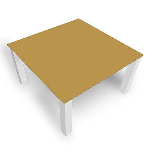 DekoGlas Table Basse en Verre uni Marron FMK-48-081 45 cm de Haut – Table avec Plateau en Verre 80 x 80 cm 100 x 100 cm 90 x 55 cm 112 x 67 cm 120 x 75 cm