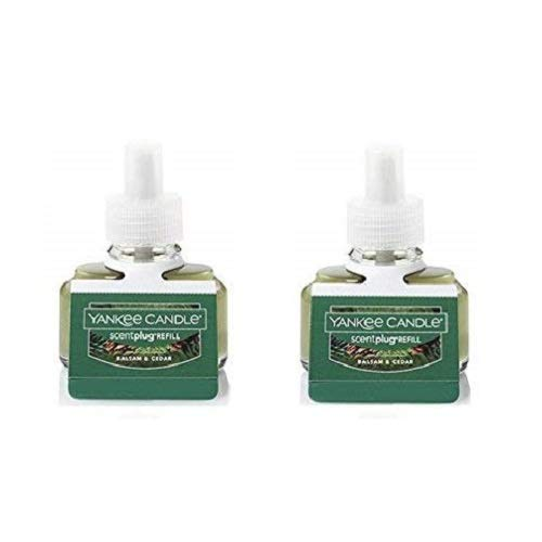 Yankee Candle Set of 2 Balsam & Cedar Scent Plug Refill Bottles Pack of 2 Refills