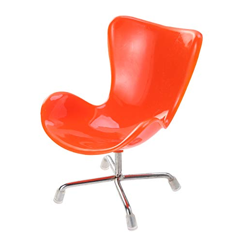 POPETPOP Egg Chair Sessel R¨¹ckenlehne Swivel Spielzeug f¨¹r Puppen 1: 6 Barbies Dollhouse Miniaturen M?bel (Orange)