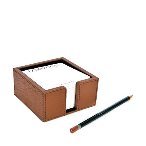 Loxwood - Porta blocco di carta, in pelle goffrata Cervo taglia unica