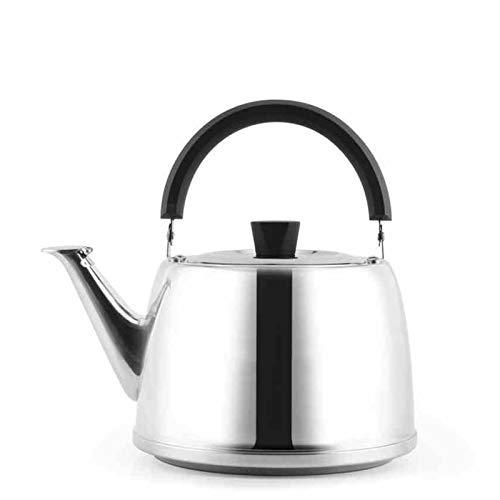 lxm Hervidor de té de Acero Inoxidable para Estufa Top Ergonómico Hervidor de Plata de Gran Capacidad Adecuado para Oficina en casa