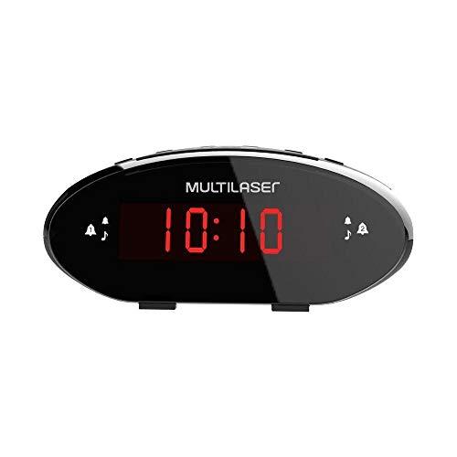 Radio Relógio Digital FM Bivolt SP352, Multilaser
