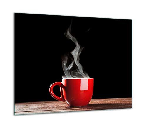 TMK - Placa protectora para cubrir la vitrocerámica de 60 x 52 cm, de una pieza, para inducción, protección contra salpicaduras, placa de cristal, tabla de cortar, café