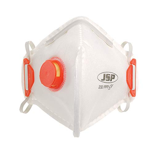 JSP BEB130-101-A00 - Máscara desechable plegable, válvula FFP3 (10 unidades)