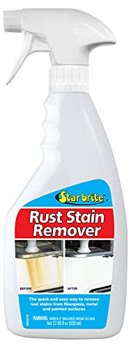 Star brite Rust Stain Remover - Easily Clean Corrosion Stains Off Fiberglass, Vinyl, Metal & Painted Surfaces, 22 oz Standard Packaging