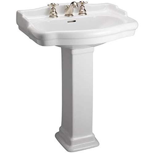 Barclay B3-868WH Stanford 550 Pedestal Lavatory Sink, White