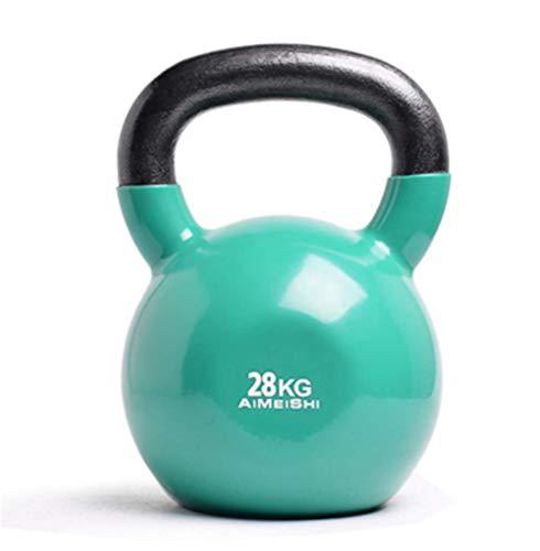 Mancuernas de levantamiento de pesas para hombres y mujeres Mancuernas multifunción 4-28 KG Barra antideslizante para ejercicio Entrenamiento físico Kettlebell Squat Arm Hip Kettlebell Ball, 28 KG