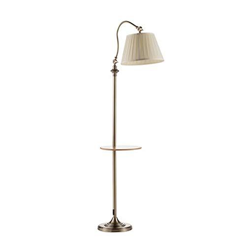 Zytyek Standleuchten Wohnzimmer Stehleuchte Dimmbare Farbanpassung Wohnzimmer amerikanisches Nordic Sofa Vertikal Lampe Couchtisch Regal Stand-Lampe Modernen Minimalist (Color : Foot Switch)