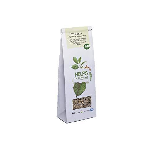 HELPS INFUSIONES - Te Verde A Granel 100% Natural. Infusion Diuretica, Antioxidante, Quemagrasas Y Adelgazante. Bolsa A Granel De 100 Gramos.