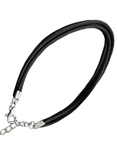 Collar de cordón de cuero negro