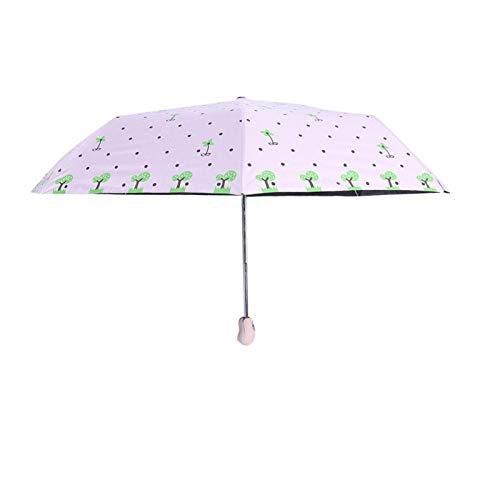 Aoutecen Paraguas para niños portátil Extensible para Viajes al Aire Libre(Pink Fawn)