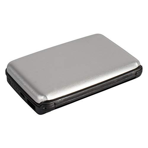 GoLucky RFID Power Wallet Powerbank Zilver | 2500 mAh | Extra batterij voor smartphones, tablets & camera's | RFID beschermhoes voor creditcards