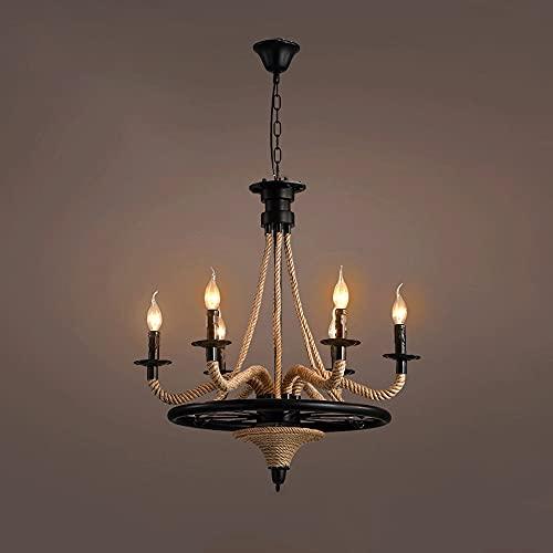 Lámpara de iluminación de araña Luces colgantes Ajustable Altura contemporánea moderna moderna colgante de araña iluminación, para sala de estar, comedor, dormitorio, cocina (Color : 6 heads)