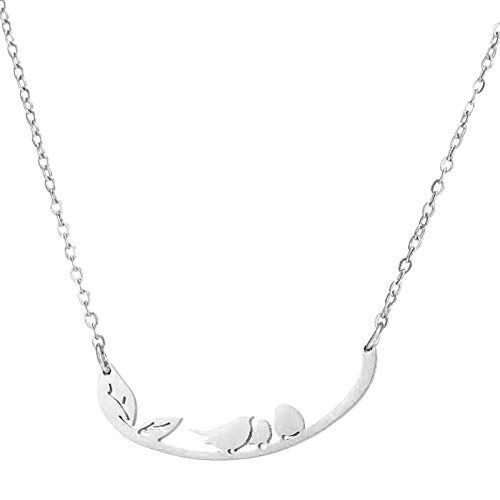 Yusea Three Little Birds Necklace Stainless Steel Small Animal Design Personality Necklace Women New