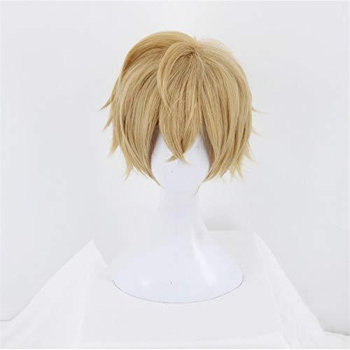 Fgo Fate Grand Order Gawain Caballeros de la mesa redonda Cosplay peluca de lino corto pelo sinttico Anime disfraz juego de rol pelucas Kumz9379