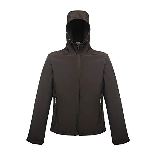 Regatta Herren Arley II Hooded Softshell Jacke, Schwarz (All Black), S