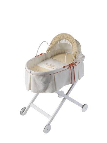 Naf-Naf 30132 Babytragekorb und Struktur des holzes Design Cuak, 50% Baumwolle 50% Polyester, beige
