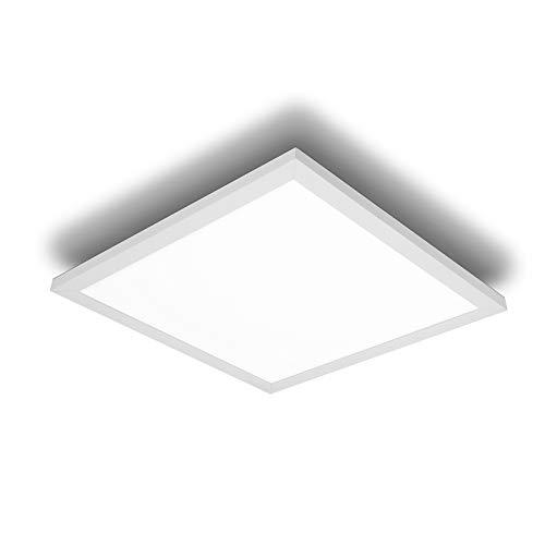 IMPTS Panel LED plano de techo, 40 x 40 cm, lámpara de techo 24 W, 1950 lm, blanco cálido, para oficina, cocina, baño, salón
