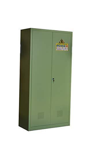 Armadio FITOFARMACO per conservazione fitofarmaci/pesticidi in metallo per aziende agricole per FITOFARMACI (100x45x200h)