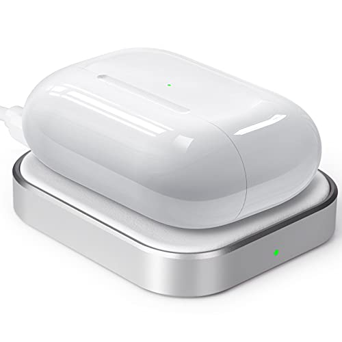Wireless AirPods 2/AirPods Pro Charger,Wireless Charging Station/Pad for AirPods Pro (No AirPods Included), White