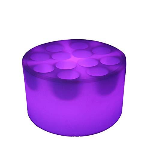 DZX Secchiello per Il Ghiaccio Botte di Ghiaccio Portatile LED Secchiello per Il Ghiaccio da Vino Telecomando Ricarica Colore Botte di Vino Impermeabile Mobili Luminosi per Feste , Bar e Bar Domestic
