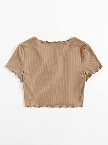 Button down crop tops _image2