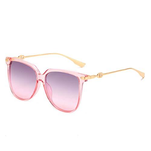 AMFG Gafas de sol grandes marco, gafas de sol metálicas, hombres y mujeres Sombrilla, Protección UV, Sombrilla de viaje al aire libre (Color : A)